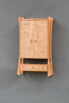 Remedy « The Krenov School of Fine Furniture Diy Furniture Plans, Funky Furniture, Woodworking Furniture, Unique Furniture, Furniture Projects, Contemporary Furniture, Furniture Design, Fine Woodworking, Wood Medicine Cabinets