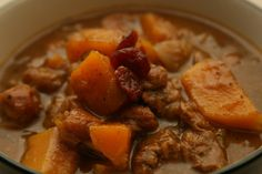Sweet and Savory Sage Stew with Pumpkin and Cherries | Life As A Plate
