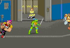 Teenage Mutant Ninja Turtles, arcade.