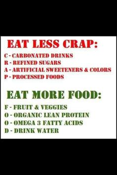 Eat real food. (Loose Weight For Teens)