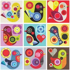9 Little Tweety Birds by Ellen Giggenbach