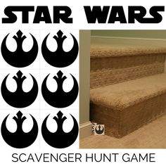 Do you need a simple and easy birthday party game? Try this: Star Wars Scavenger Hunt Game