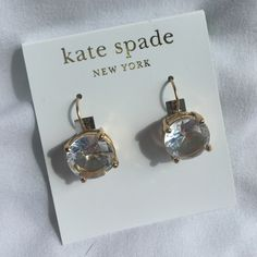 Kate Spade - New - Earrings Brand new Kate Spade earrings. 14K Gold Fill. Purchased at Nordstrom. Classic! kate spade Jewelry Earrings