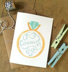 Ideas wedding card design ideas hand lettering – The Best Ideas Wedding Ring Illustrations, Wedding Congratulations Card, Karten Diy, Wedding Cards Handmade, Engagement Cards, Engagement Ring, Wedding Card Design, Watercolor Cards, Watercolor Wedding