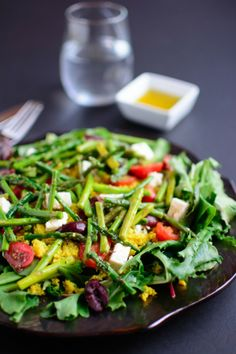 Asparagus and Couscous Salad with Honey Lemon Dressing