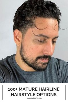 This Latino-inspired look with long front strands and slightly faded sides creates a cool appearance you can style multiple ways, even if you have a mature hairline. Check out this list and find more styling ideas for men. #maturehairline #menfadesides #menhairstyles #baldingmenhairstyle #manhaircuts Skin Fade Hairstyle, Pompadour Hairstyle, Latino Haircuts, Haircuts For Men, High Skin Fade, Mullet Haircut, Bald Patches, Tapered Hair, Hair Pomade