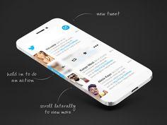 Twitter Prototype by Fabbio Murru. iPhone 6 Infinity Concept Designs