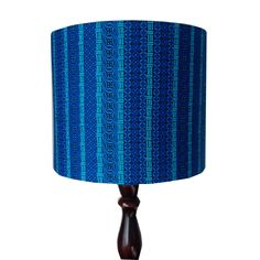 AquaMarine Handmade Lampshade, Blue African Striped Lampshade, 25cm Drum Lamp shade, Boys Teen Bedroom Lampshade, Detola and Geek by DetolaAndGeek on Etsy