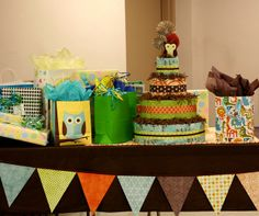 "I like the banner....Photo 1 of 11: retro owl theme / Baby Shower/Sip & See ""Shower for Baby Wayland"" 