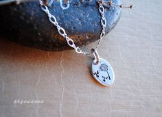 MAKE A WISH all sterling silver oval necklace length and clasp choice  by srgoddess by srgoddess on Etsy