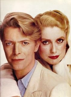 david bowie and catherine deneuve in 'the hunger'