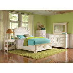 Riverside Furniture Placid Cove Low Storage Panel Bedroom Collection