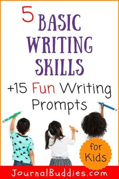 Use fun, imaginative learning tools like these writing prompts to help kids become familiar with the basic writing skills they'll need to become great writers! #basicwritingskills #writingskillsforkids #journalbuddies #writingpromptsforkids Writing Prompts For Kids, Writing Skills, Cool Writing, Writing Tips, Elementary Education, Upper Elementary, Learning Tools, Book Suggestions, Classroom Activities