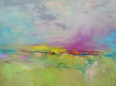 Abstract Landscape 'Intrigue'  acrylic by SallyKellyPaintings, $90.00