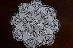 18 handmade knitted lace doily/ table by BloomingNeedles on Etsy