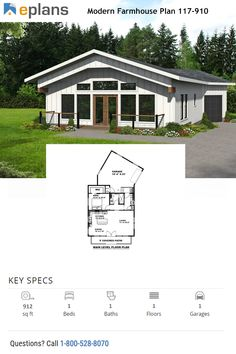 Looking for cool house ideas? Check out this trendy and compact farmhouse barndominium. Questions? Call 1-800-528-8070 today. #architect #architecture #buildingdesign #homedesign #residence #homesweethome #dreamhome #newhome #newhouse #foreverhome #interiors #archdaily #modern #farmhouse #house #lifestyle #design