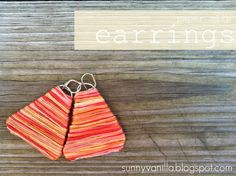 Sunny Vanilla: How to make paper clip earrings