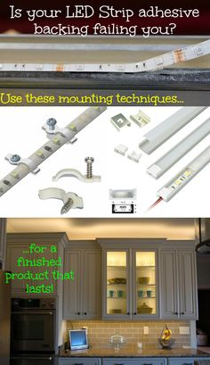 Led Strip Lights Home Depot Great Tutorial On Installing Led Light Strips On Bookshelves Under