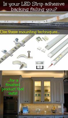 great tutorial on installing led light strips on bookshelves under rh pinterest com installing led light house 120V LED Wiring Diagram