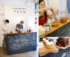 Sunshine Park Bakery {retail inspiration} chalkboards...