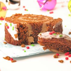 Gingerbread Cake Roll with Maple Cream Filling