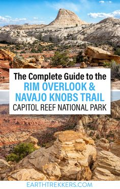 How to hike to Rim Overlook and Navajo Knobs, one of the best hikes in Capitol Reef National Parks. #capitolreef #nationalpark