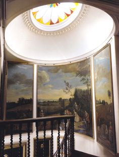 """Dutch triptych in the staircase of Sir Christopher. Image from """"World of Interiors"""" July 2009"""