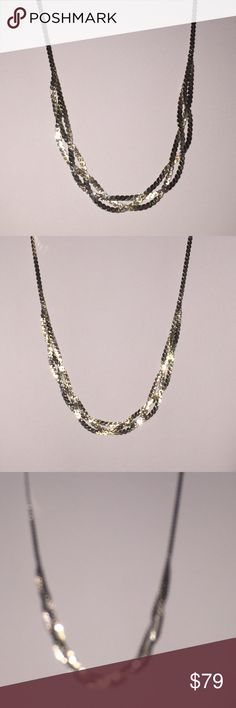 Lovely Braided 925 Sterling Silver Necklace This is a very pretty piece. A 925 Sterling Silver  Braided Necklace. It lies flush against the skin.. Freshly Polished. . And glistening bright. I love it. Jewelry Necklaces