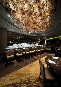 Nobu Restaurant in Perth with ICE International handtufted wall-to-wall carpets in main dining area and private dining rooms