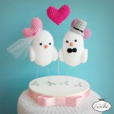 Topo de bolo Lovebirds Fun Corações