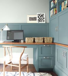 Color of the Year 2021 Aegean Teal Office Color Schemes, Office Paint Colors, Home Office Colors, Home Office Space, Paint Colors For Home, House Colors, Benjamin Moore Couleurs, Calming Paint Colors, Paint Colours