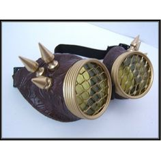 Hive Steampunk Motorcycle Goggles Yellow by OntheWingsofSteam, $37.99