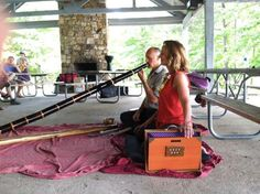 Edie & Daran playing at the Jordan lake Chantfest. It was a beautiful day.