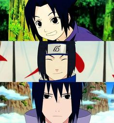 Sasu was sooo cute when he smiled. Then he changed his hair and is stupid now.