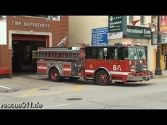 Battalion chief 2 and engine company 8 of the Chicago fire department responding out of their quarters in Chinatown. This station was one of the shooting locations for the movie Backdraft //     Einsatzleiter 2 und Löschfahrzeug 8 der Feuerwehr Chicago rücken aus zu einem Einsatz. Diese Feuerwache war Drehort im Film Backdraft //     by Dirk Steinha...