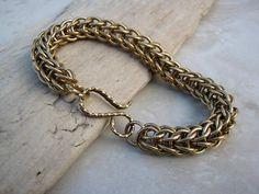 Solid Brass Bracelet Women's Brass Chain Bracelet Brass handmade by Arret on etsy.com