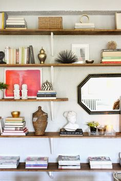Floating Shelves Burlap and Lace: {DIY Files} Ikea Hack-ed Shelving Unit