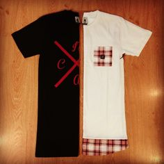 NCAC Logo tall tee // Tartan tail & pocket tall tee #ncac #talltee #tartan #trend #fashion #mensfashion #streetstyle