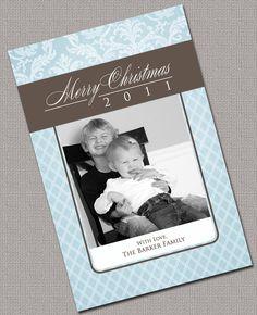 Custom Photo Christmas Card DIY Printable