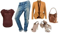 daily look - baggy jeans and high heels