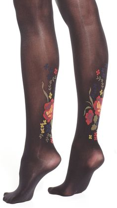 Floral tights #sponsored