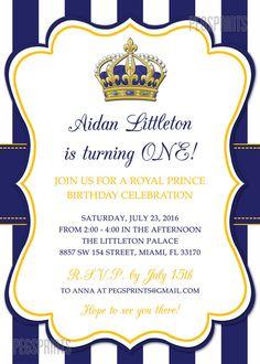 diseño imprimir ♥  ================  Si están tirando una real Baby Shower, entonces dar a sus huéspedes un capricho con esta invitación de cumpleaños de príncipe real. También se puede personalizar el texto en esta invitación para despedidas, baby shower, etc..  {Juego real princesa cumpleaños invitación} www.etsy.com/listing/247370974/royal-princess-birthday-invitation-royal  ===&#x...
