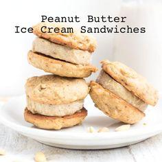 Homemade Peanut Butter Ice Cream Sandwiches...http://homestead-and-survival.com/homemade-peanut-butter-and-banana-ice-cream-sandwiches/