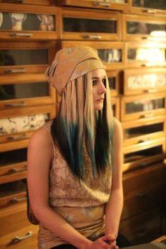 acdd1a6e4ddd Blue and Black #style_bubble #dip_dye #london_fashion #susie_bubble