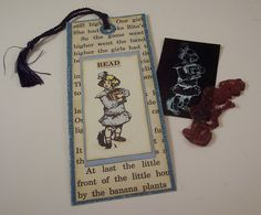 Bookmark with Home Made Stamp made using Dover images by PisforPaper, via Flickr