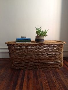 Vintage Rattan Wicker Coffee Table by QuinnVintageandFound on Etsy, $100.00 Wicker Coffee Table, Dorm Room, Furniture Decor, Rattan, Entryway Tables, Arts And Crafts, Attitude, Vintage, Etsy