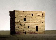 Solid wood architecture model by Michele De Lucchi  CHANCE TO USE WORN WOOD TO HIGHLIGHT THAT BUILDING MATERIAL