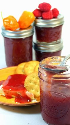 Raspberry Habanero Jam - HOT STUFF - Small Batch Canning. FINALLY a water bath canning recipe for spicy jam. Too bad raspberries are out of season here.
