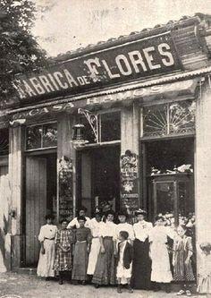 1910 - Rua São Bento, Fábrica de Flores.