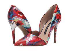 pantofi cu toc multicolori